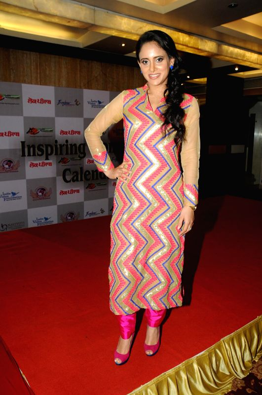 Shweta Khanduri during Women Power Calendar Launch 2015 in Mumbai on Jan 17, 2015.