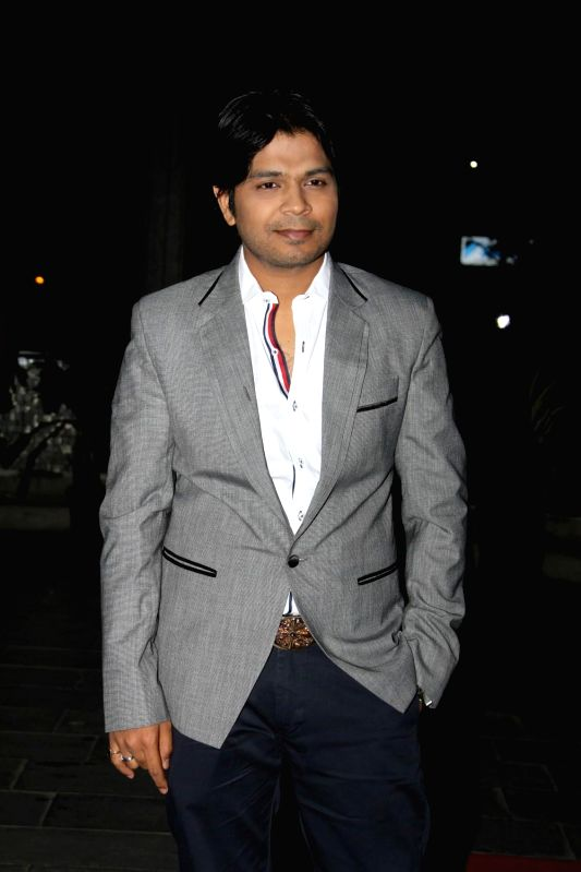 Singer Ankit Tiwari during the wedding reception of Tulsi Kumar and Hitesh in Mumbai on March 2, 2015.