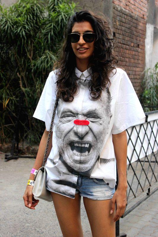Singer Anushka Manchanda during the 'SPIRO - An MTV Indies Takeover' in Mumbai, on April 4, 2015.