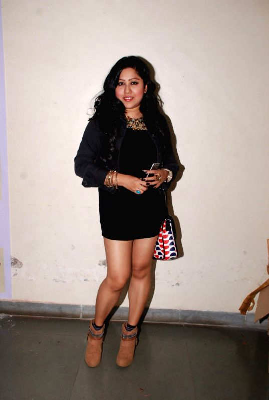 Singer Arpita Chakraborty during the promotion of film Bezubaan Ishq at Nagindas Khandwala College annual function in Mumbai, on June 5, 2015. - Arpita Chakraborty