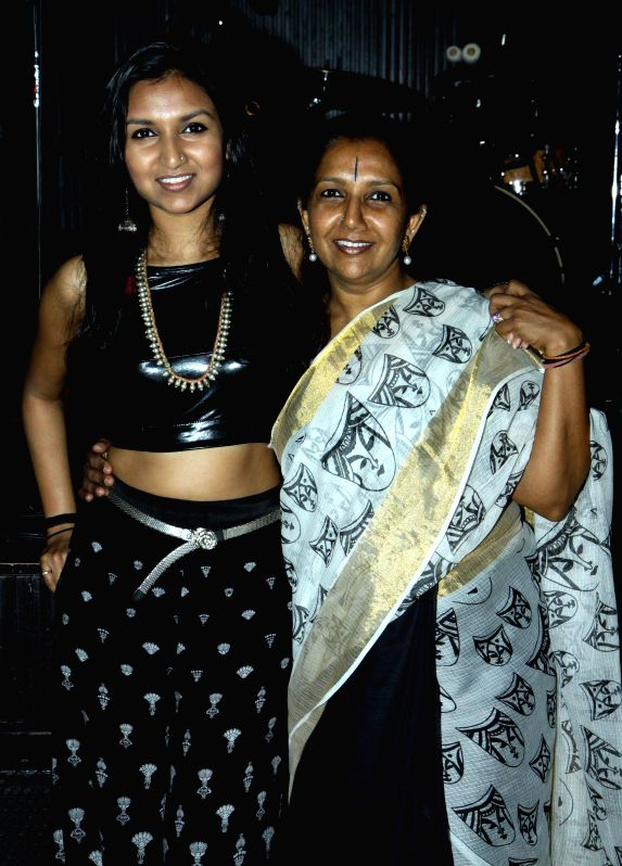 Singer Bhavana Reddy and Kaushalya Reddy during the launch of her music album Tangled in Emotion in Mumbai on Feb 06, 2015. - Bhavana Reddy and Kaushalya Reddy