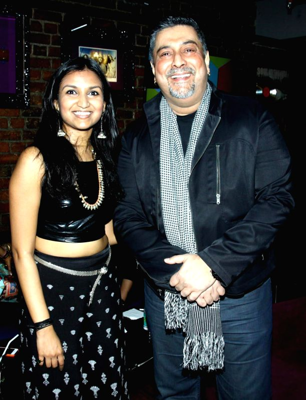Singer Bhavana Reddy and Ranjit Barot during the launch of her music album Tangled in Emotion in Mumbai on Feb 06, 2015. - Bhavana Reddy
