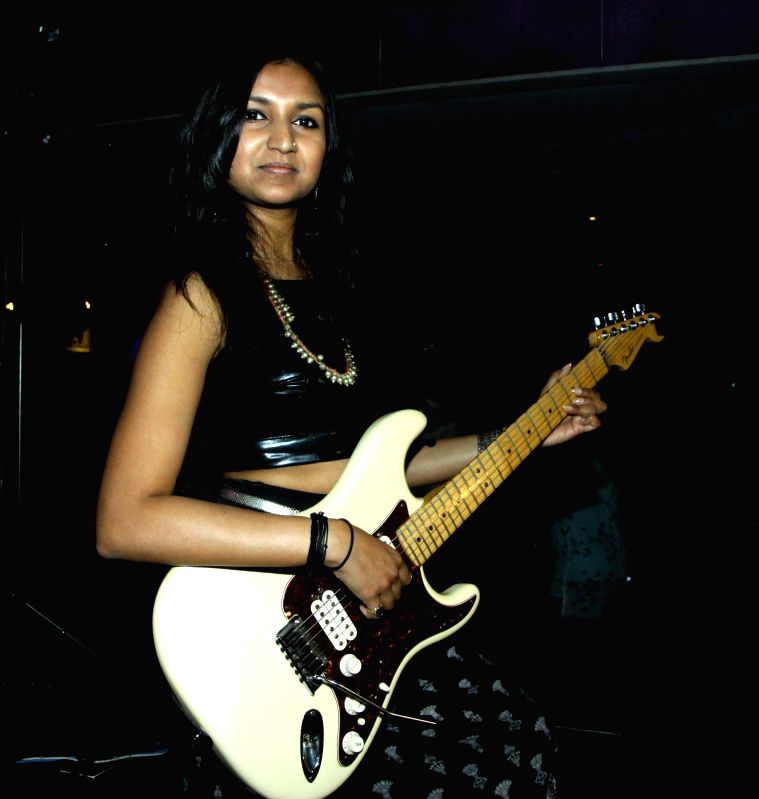 Singer Bhavana Reddy performs during the launch of her music album Tangled in Emotion in Mumbai on Feb 06, 2015. - Bhavana Reddy