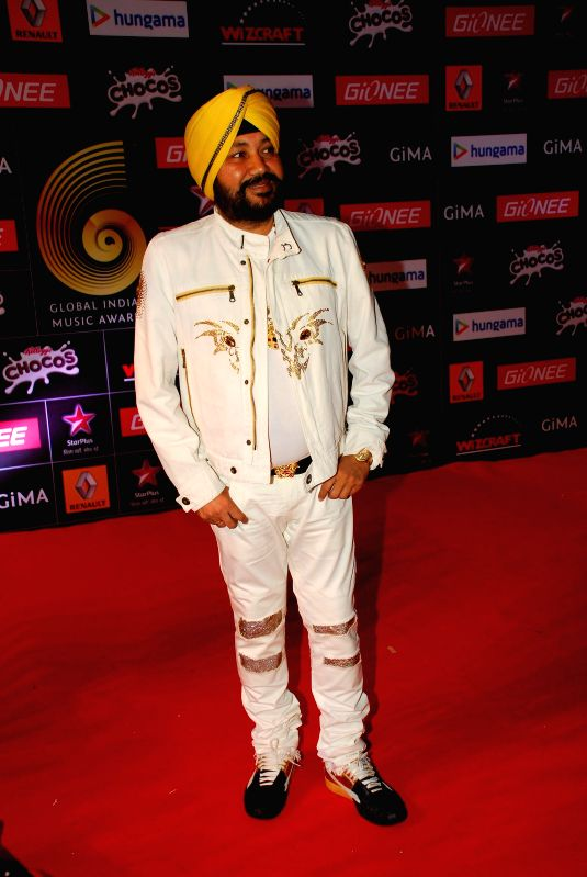Singer Daler Mehndi during the 5th edition of the Global Indian Music Academy (GiMA) Awards ceremony in Mumbai on Feb 24, 2015.