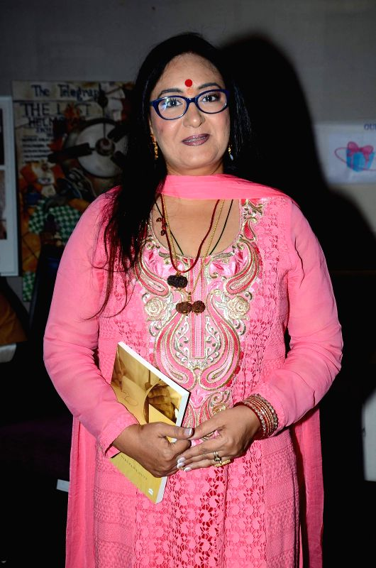 Singer Jaspinder Narula during the launch of script writer Javed Siddhiqui`s book at Literature festival, JJ school of arts in Mumbai, on March, 01, 2015.