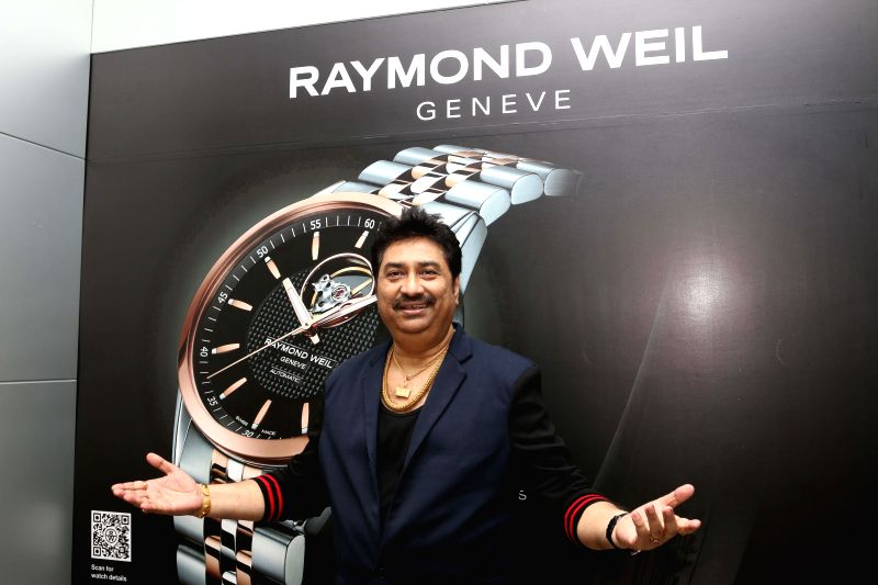 Singer Kumar Sanu at Roaymnd Weil store in Mumbai on April 21, 2015.