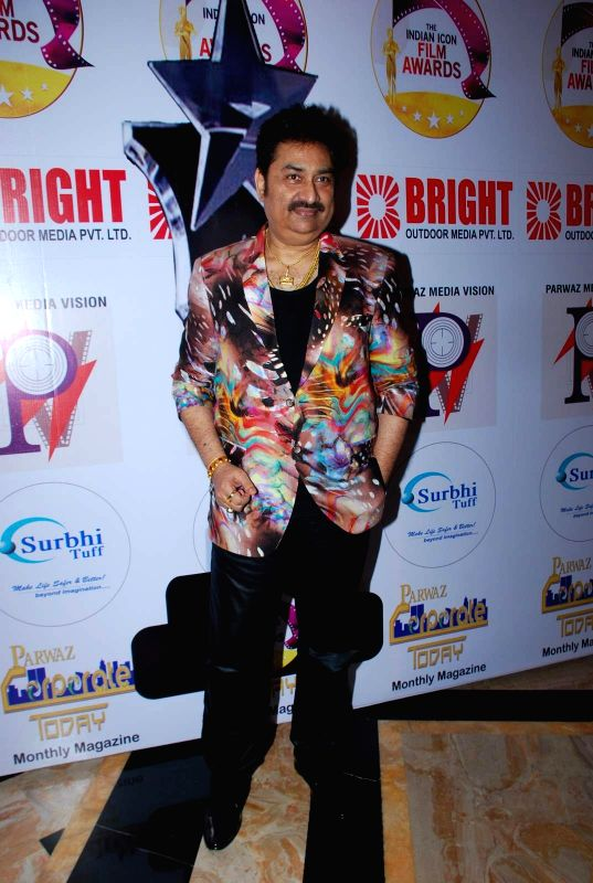 Singer Kumar Sanu during the Announcement of annual award show TIIFA in Mumbai on April 18, 2015. - Kumar Sanu