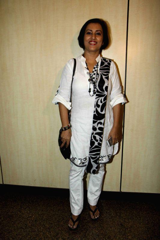 Singer Madhushree arrives to attend Dr. Ambedkar Award 2015, in Mumbai on 13th April 2015.