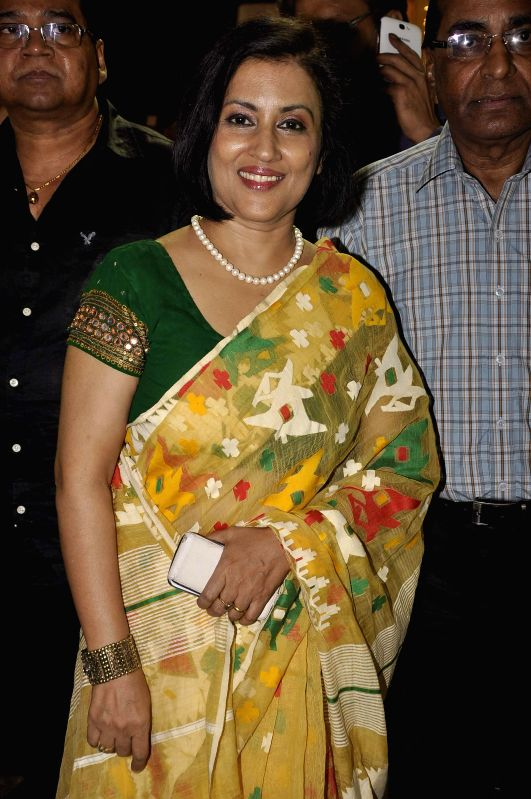 Singer Madhushree during the Hum Log Awards 2015 in Mumbai on Feb. 16, 2015.