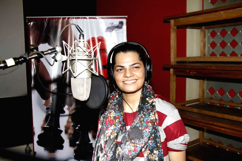 Singer Mamta Sharma during the muhurat and song recording of film JD in Mumbai, on 5th Jan 2015 - Mamta Sharma