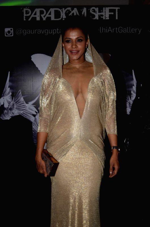 Singer Manasi Scott during the opening of fashion designer Gaurav Gupta's store in Mumbai on Nov 27, 2014.
