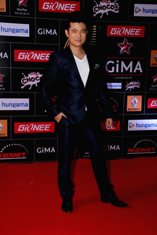 Singer Meiyang Chang during the 5th edition of the Global Indian Music Academy (GiMA) Awards ceremony in Mumbai on Feb 24, 2015.