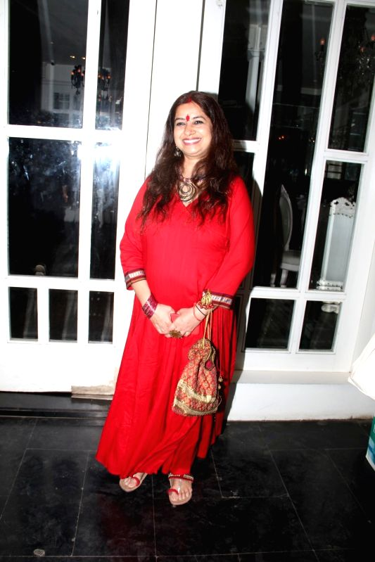 Singer Rekha Bhardwaj during the success party to celebrate National Award for film Haider in Mumbai on March 24, 2015. - Rekha Bhardwaj