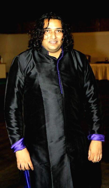 Singer Shabab Sabri during the Rajasthan Day celebration in Mumbai on March 30, 2015.