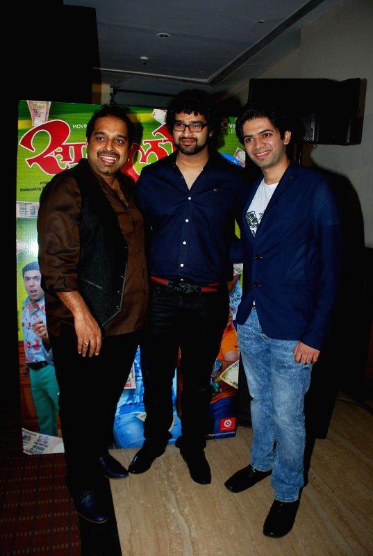Singer Shankar Mahadevan and Siddharth Madhavan during the Sata Lota music launch in Mumbai on 7th Jan 2015