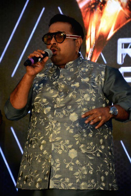 "Mumbai: Singer Shankar Mahadevan performs at the launch of third edition of live singing reality show ""Rising Star"" in Mumbai, on March 13, 2019."