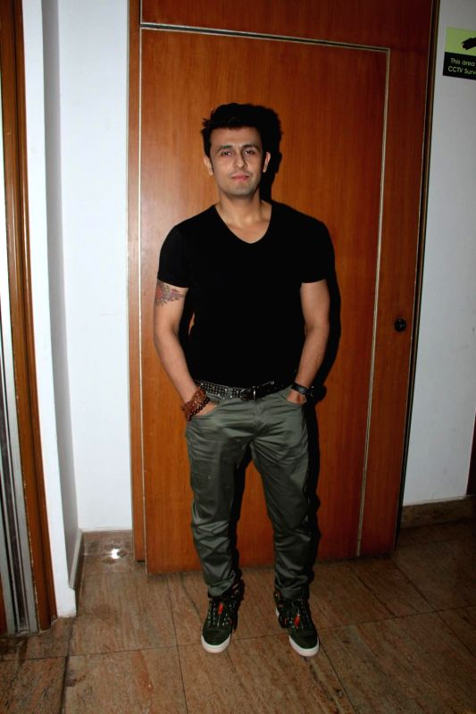 Singer Sonu Nigam during the success of the World Music Symphony in Mumbai on Feb 27, 2015. - Sonu Nigam