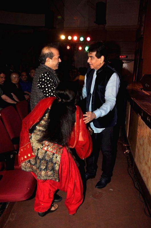 Singer Suresh Wadkar and Jeetendra during Kishore Kumar concert in Mumbai on Jan 24, 2015.