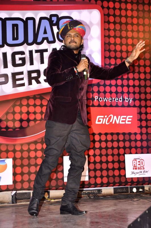 Singer Swaroop Khand during the launch of new reality show India's Digital Superstar (IDS) by Fremantle Media in Mumbai, on Jan. 19, 2015.