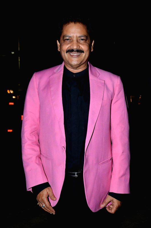 Singer Udit Narayan during the Bharat Gaurav Achievement Award 2015 in Mumbai on Jan 24, 2015.