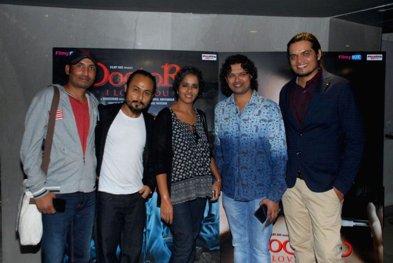 Singers Subhash Pradhan, Hamsika Iyer, Raja Hasan and music director Rahul Mishra during the music launch of film Doctor I love You in Mumbai, on 5th Jan 2015 - Rahul Mishra