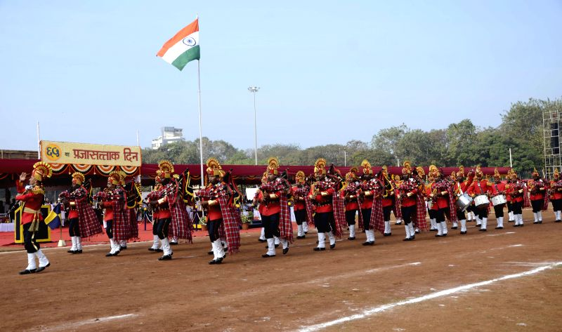 Soldiers during Republic Day celebrations at Shivaji Park in Mumbai, on Jan 26, 2015.