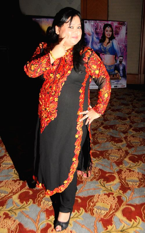 Stand-up comedian Bharti Singh during the audio launch of film `Mumbai Can Dance Saalaa` in Mumbai on Thursday, Dec 11, 2014. - Bharti Singh