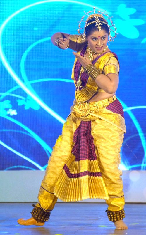 Sudha Chandran performing during the `Shoorveer Awards` in Mumbai on March 15, 2015.