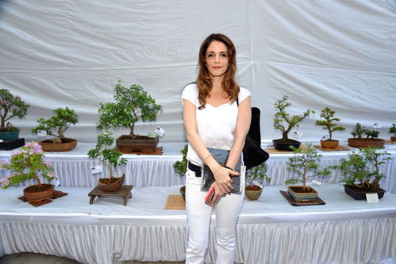 Suzzane Khan during the Inauguration of Exotic Bonsai and Ikebana Exhibition in Mumbai on Feb 27, 2015. - Suzzane Khan
