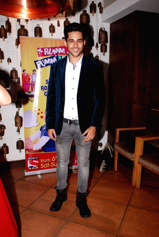 Mumbai: Television actor Abhishek Bajaj during the screening of SAB Tv new silent comedy serial Rumm Pumm Po in Mumbai, on June 5, 2015.