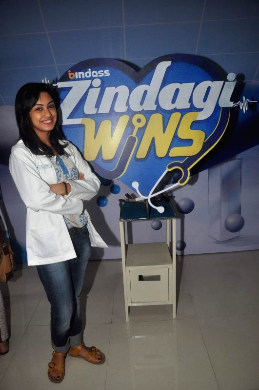 Television actor Abigail Pande during the launch of new serial Zindagi Wins by Bindass channel in Mumbai on Feb 17, 2015. (Photo : IANS) - Abigail Pande