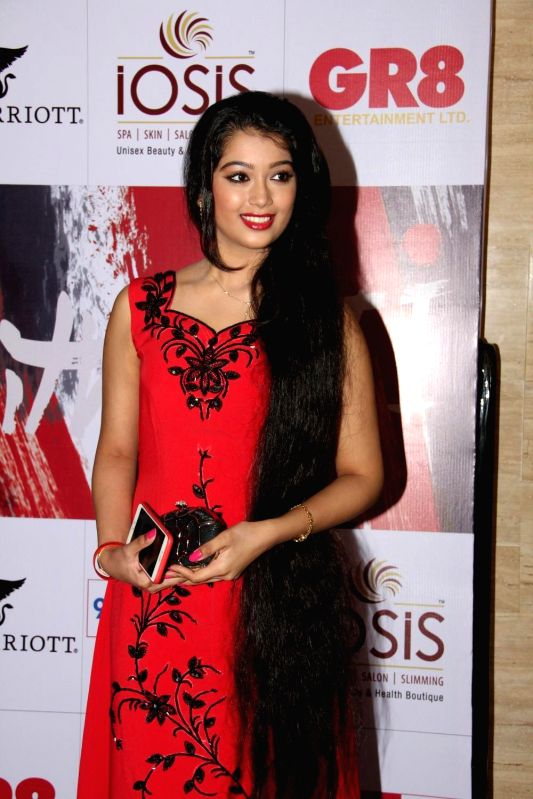 Television actor Digangana Suryavanshi during the charity event, Be with Beti, to celebrate International Women`s Day, in Mumbai, on March 8, 2015. - Digangana Suryavanshi