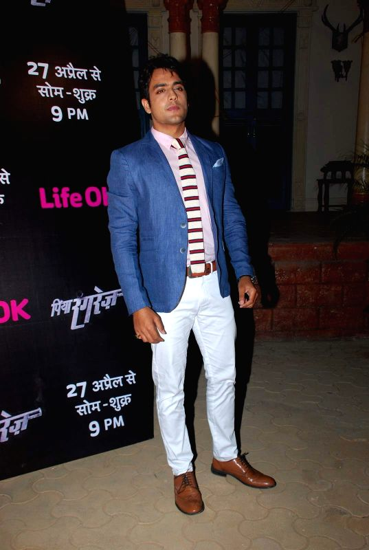 Television actor Gaurav S Bajaj during the first screening of television channel Life Ok new show Piya Rangrezz in Mumbai, on April 27, 2015. - Gaurav S Bajaj