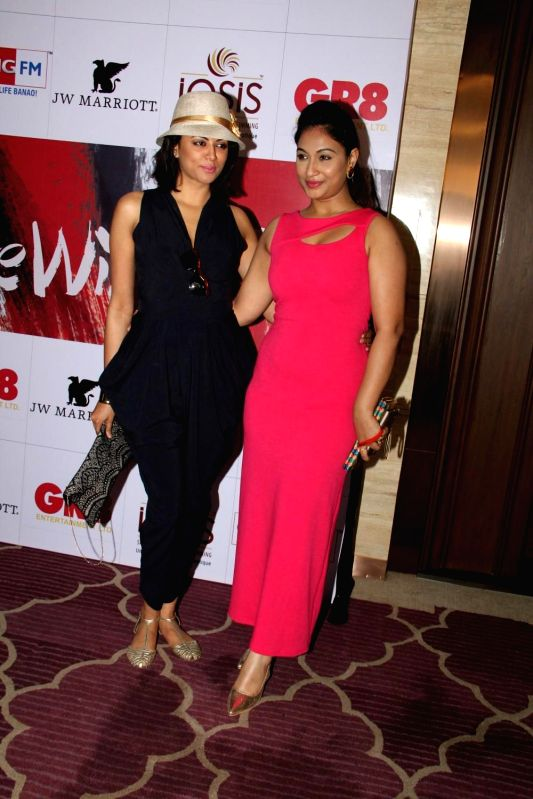 Television actor Kavita Kaushik and Melissa Pais during the charity event, Be with Beti, to celebrate International Women`s Day, in Mumbai, on March 8, 2015. - Kavita Kaushik