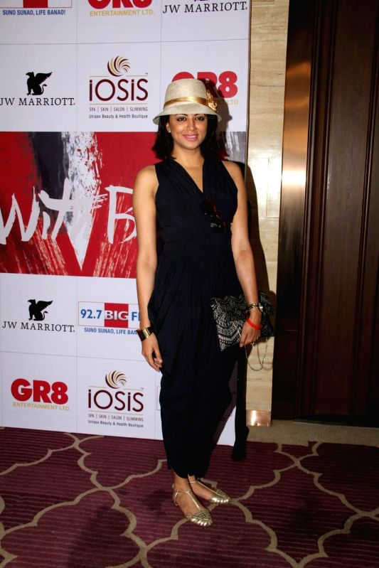 Television actor Kavita Kaushik during the charity event, Be with Beti, to celebrate International Women`s Day, in Mumbai, on March 8, 2015. - Kavita Kaushik