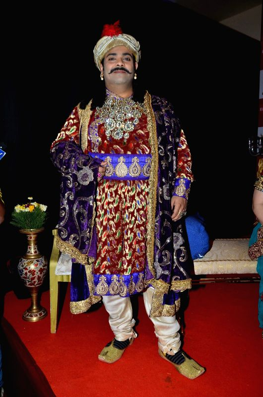 Television actor Kiku Sharda during the launch of Big Magic channel new show Chatur aur Chalak, Birbal aur Viraat, in Mumbai on Jan. 30, 2015. - Kiku Sharda