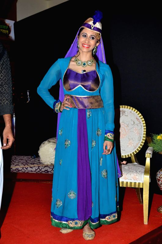 Television actor Kishwar Merchant during the launch of Big Magic channel new show Chatur aur Chalak, Birbal aur Viraat, in Mumbai on Jan. 30, 2015. - Kishwar Merchant
