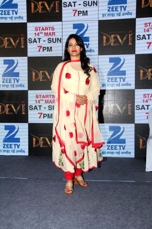 Television actor Komolika Guha Thakurta during the press conference to announce Zee TV new show Maharakshak Devi in Mumbai, on March 10, 2015. - Komolika Guha Thakurta