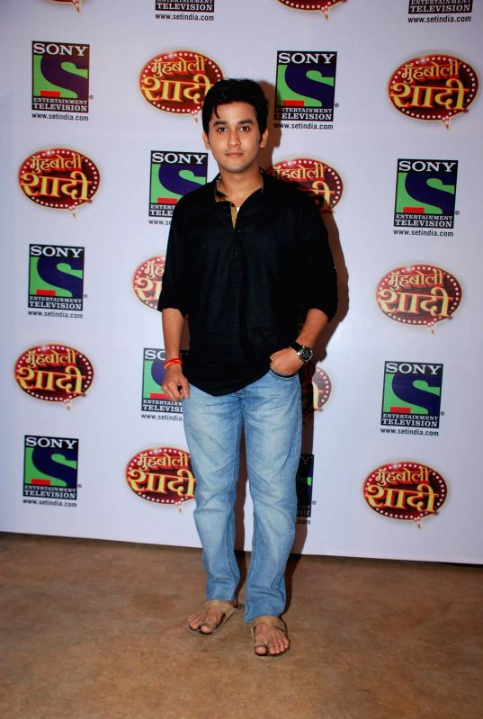 Television actor Mehan during the launch of Sony TV upcoming show `Muh Boli Shaadi` in Mumbai on Feb 19, 2015. - Mehan