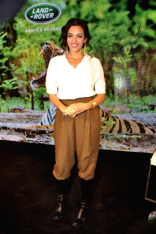 Television actor Neha Sareen during the launch of the book Tracking the Tiger written by Bob Rupani in Mumbai, on Nov 18, 2014. - Neha Sareen