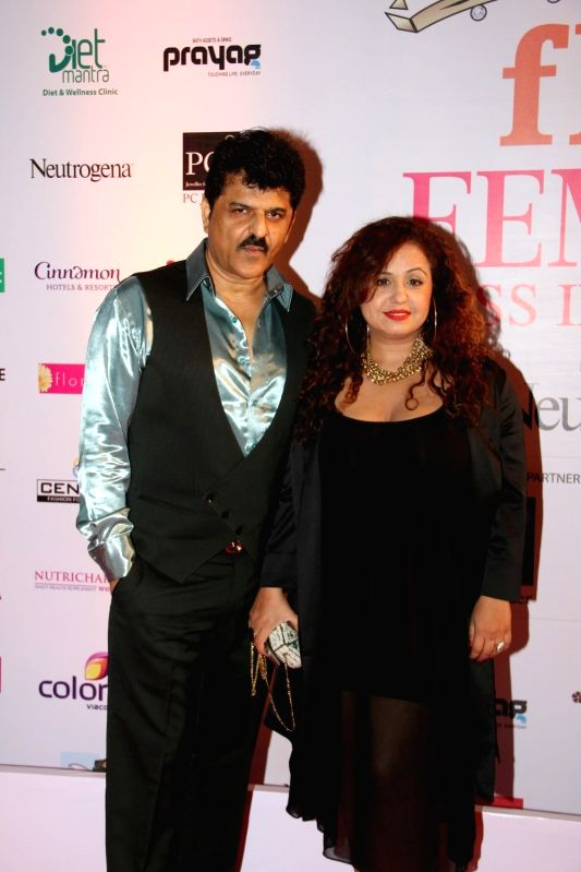 Television actor Rajesh Khattar along with her wife Vandana Sajnani Khattar during the Grand Finale fbb Femina Miss India 2015 in Mumbai on March 28, 2015. - Rajesh Khattar and Vandana Sajnani Khattar