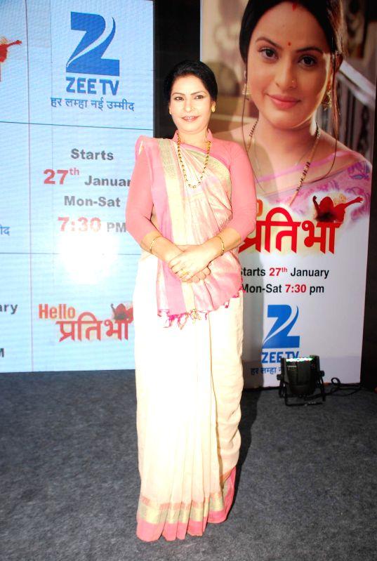 Television actor Sangeeta Panwar during the launch of television serial Hello Pratibha in Mumbai, on Jan. 19, 2015. - Sangeeta Panwar