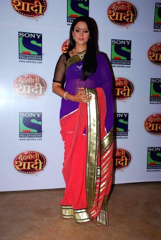 Television actor Shivani Gossian during the launch of Sony TV upcoming show `Muh Boli Shaadi` in Mumbai on Feb 19, 2015. - Shivani Gossian