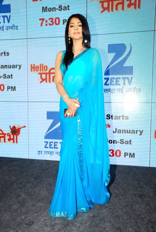 Television actor Snigdha Pandey during the launch of television serial Hello Pratibha in Mumbai, on Jan. 19, 2015. - Snigdha Pandey