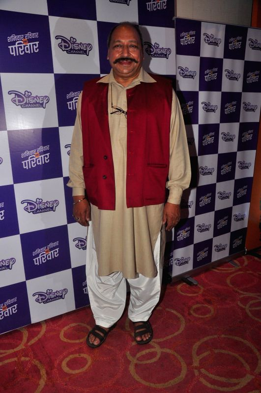 Television actor Sudhir Pandey, during the launch of Disney Channel's new shows, in Mumbai, on Jan. 22, 2015. - Sudhir Pandey