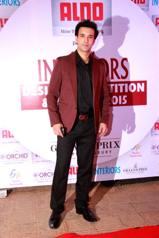 Television actors Aamir Ali during the 13th Society Interiors Design Competition and Awards in Mumbai on Feb 21, 2015. - Aamir Ali