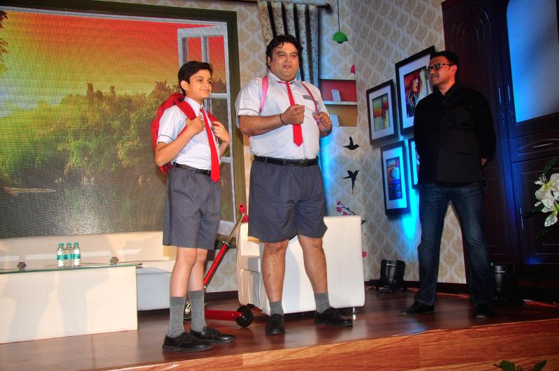 Television actors Namit Shah and Ashwin Kaushal, during the launch of Disney Channel's new shows, in Mumbai, on Jan. 22, 2015. - Namit Shah and Ashwin Kaushal