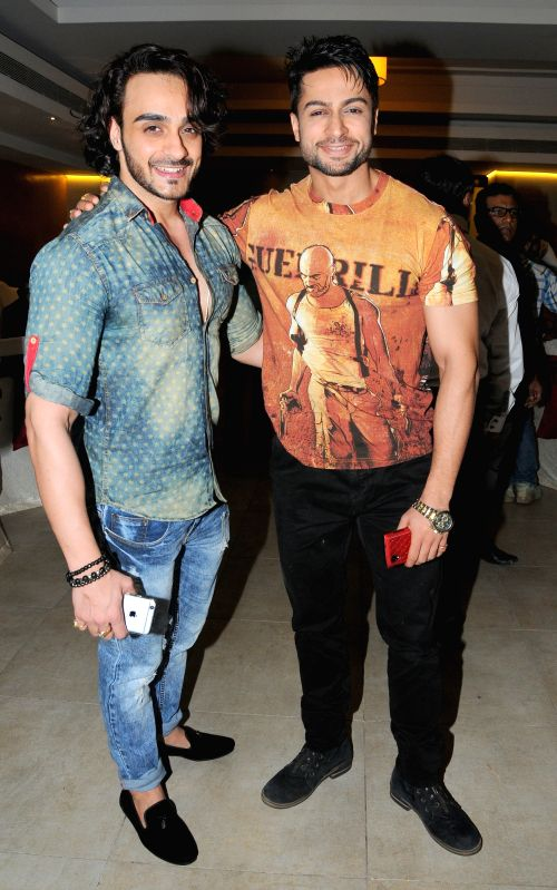Television Actors Shaheen Bhanot  and Angad Hasija  during the announcement of new Film, The Cinema Hall, in Mumbai, on April 17, 2015. - Shaheen Bhanot