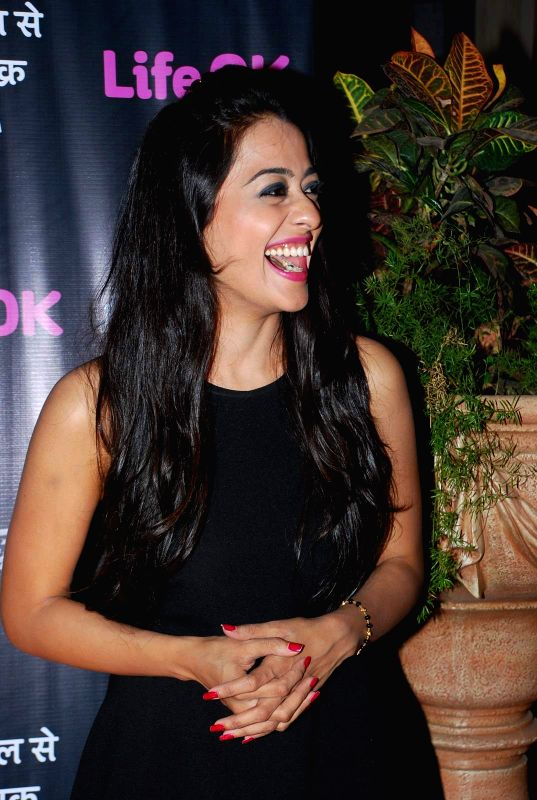 Television actress Kirtida Mistry during the first screening of television channel Life Ok new show Piya Rangrezz in Mumbai, on April 27, 2015. - Kirtida Mistry