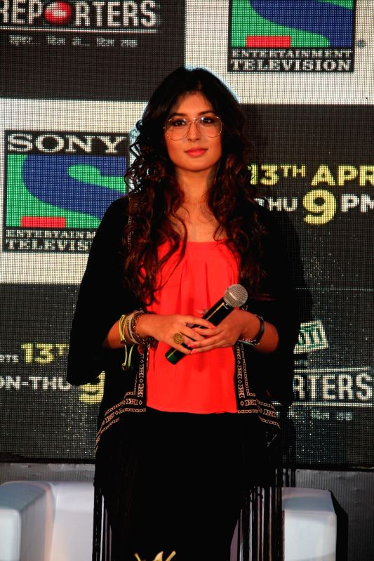 Television actress Kirtika Kamra during the launch of Sony TV`s new serial Reporters in Mumbai on April 9, 2015. - Kirtika Kamra